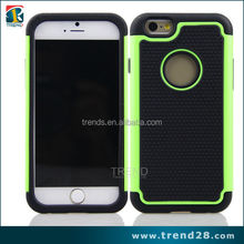 wholesale alibaba PC+Silicon cell phone case for iphone 6