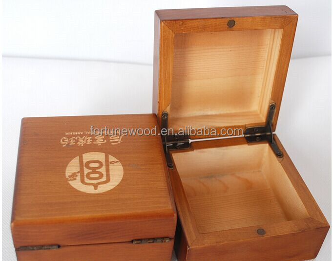 Simple wooden material Ring Jewellery box