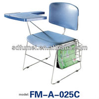 Plastic good price school chair for sale with writing table FM-A-025C