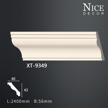 Factory Price China PU polystyrene foam Carved Crown Cornice Mouldings XT-9349