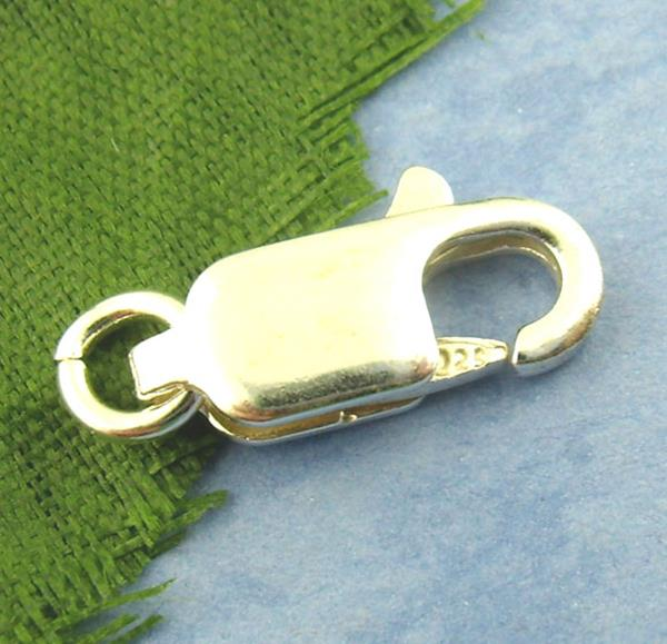 Jewelry Findings 10PCs 925 Hallmark Sterling Silver Lobster Clasps