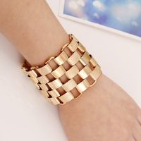 Fashion gold cuff european bracelet for factory wholesale N80500