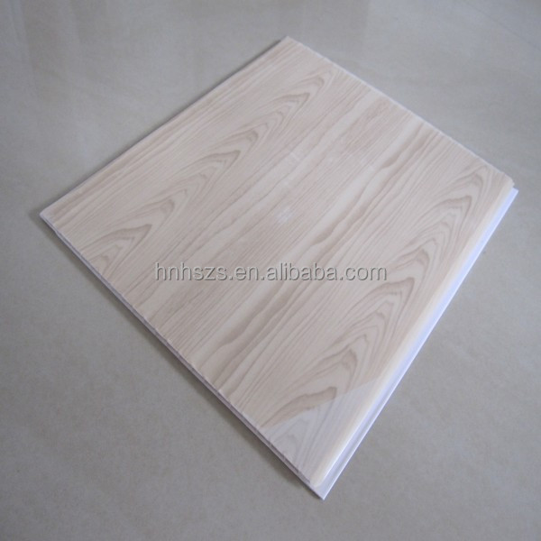 Wood color PVC ceiling panels hot sell
