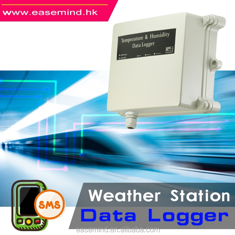 environmental monitoring system temperature data logger gprs Weather Station