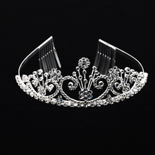 Wholesale engagement wedding indian crown tall pageant crown tiara