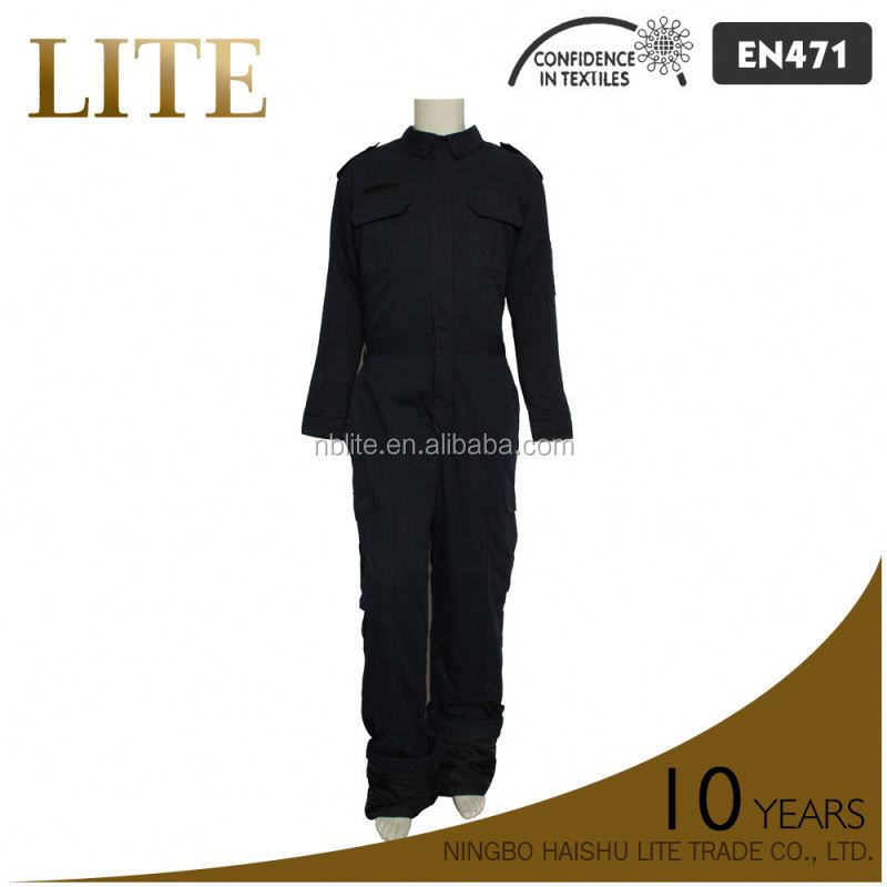 65%Cotton 35%Polyester reflective Bright Colored Coveralls For Each Season