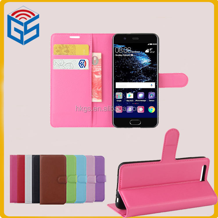 Telefon <strong>Accessories</strong> Flip PU Wallet Leather Cover Case For Huawei P10
