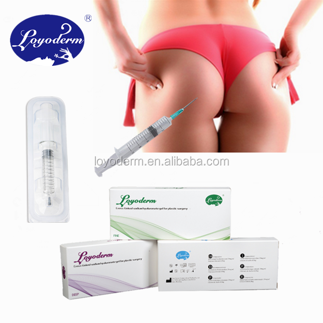 Loyoderm the most cost-effective price dermal filler/hyaluronic filler injection 5ml 10ml 20ml for breast and butt enhancement