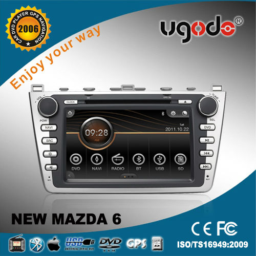 ugode for NEW MAZDA 6 2 din car DVD GPS Player 2008 -2013 with canbus