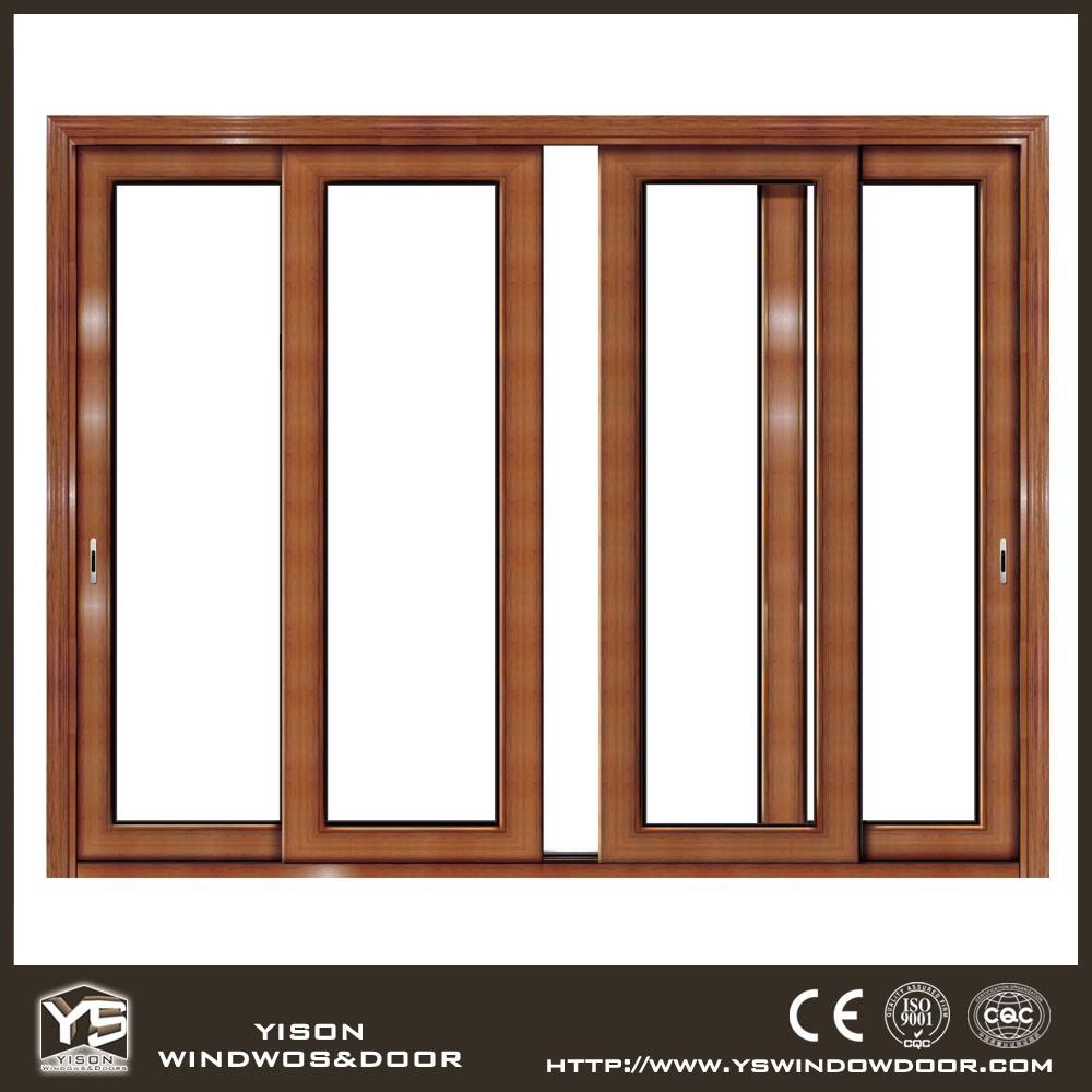 Top Quality Sliding Windows : Top quality wooden design aluminum frame sliding glass