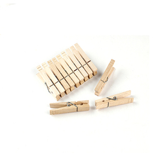 OEM Factory decorative colored bulk wood clothespins wholesale laundry large mini bamboo clip hanging craft wooden clothes pegs