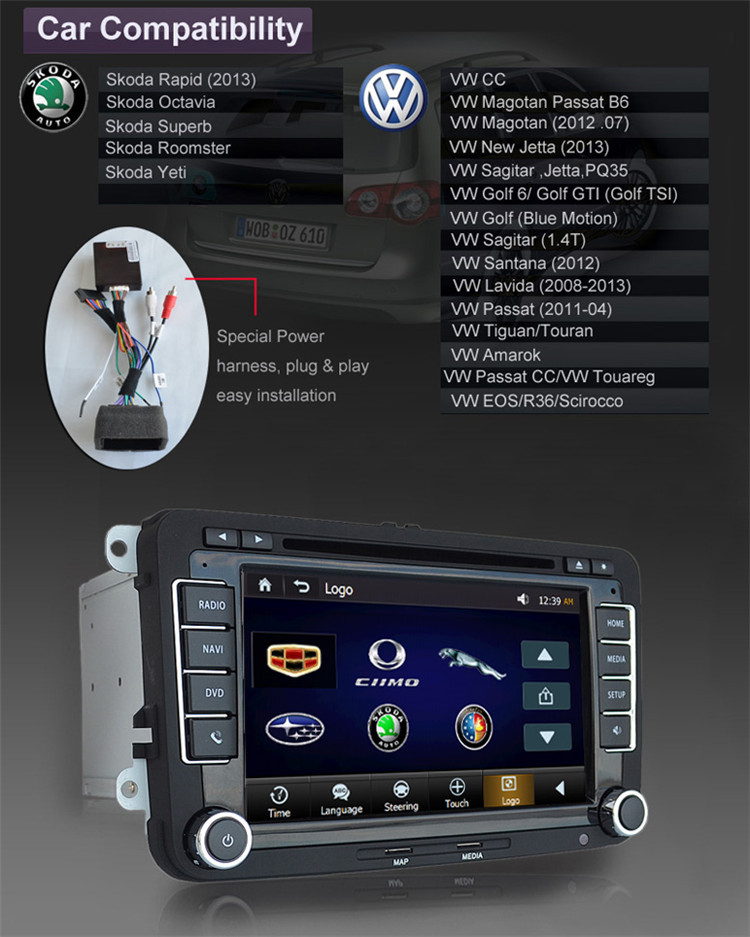 HIFIMAX Car Radio for VW EOS Car GPS Navigation System/car DVD Seat leon cupra (2005~2010) with gps