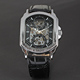 WINNER 046 square Promotion Famous Brand Winner Skeleton Mechanical Watch For Men Best Gifts Top Quality brand watches