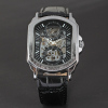 square shap Promotion Watch Famous Brand Winner Skeleton Mechanical Watch For Men Best Gifts Top Quality brand watches