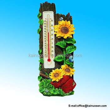 Polyresin Sunflowers Thermometer