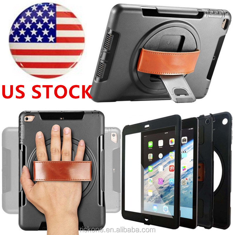 For Mini iPad Original Armor Shockproof Heavy Duty Silicone Hard Case Stand Smart Cover For iPad Mini 1 2 3 Retina