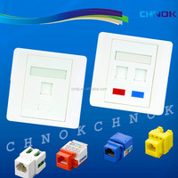 Network keystone jack cat5e utp 8p8c for RJ45 wall plate inserts