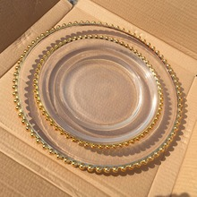 cheap decorative elegant glass party <strong>plates</strong>