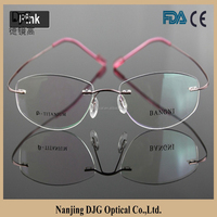 Naturally Rimless Eyeglass Optical Frames With Various Colors