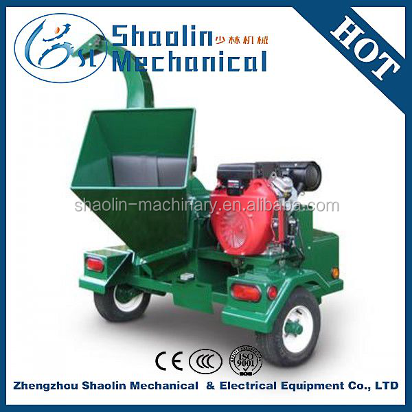 high capacity diesel wood chipper/shredder