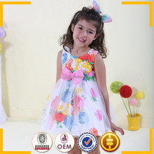Net material for dresses / Cheap china wholesale kids clothing / Kids summer wear
