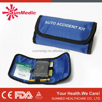 Crash records and disposable camera accidant car first aid kit