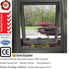 AS2047 awning window aluminium window with electric casement window openers chain winder