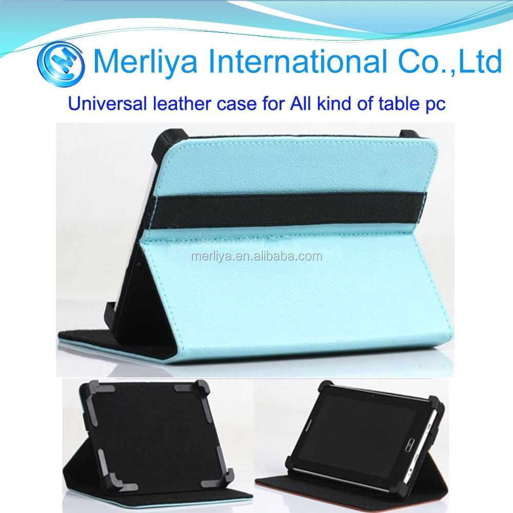Universal Leather Folding Folio Tablet Case for 7 inch 8inch 9inch tablet pc
