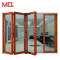 Aluminum alloy insulated folding door design bi fold doors with screen