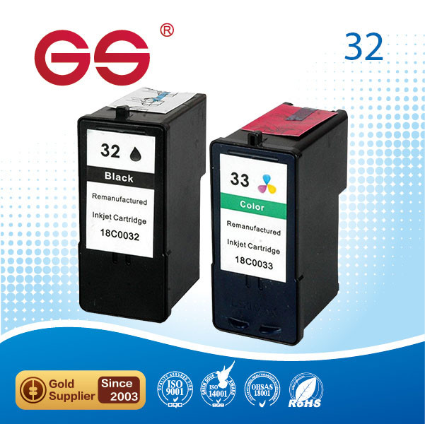 original High quality printer remanufactured ink cartridge for lexmark 32 33