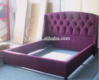 Modern fabric bed furniture of Italian style simple and soft for bedroom