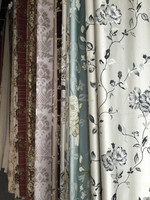 jacquard silk high quality sheer embroidery curtain fabric