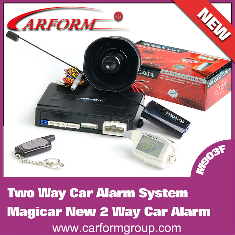 2-way car alarm system Magicar M903F English version Two Way Car Alarm System LCD remote engine starter