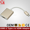 patented product USB 3.1 TYPE-C Cable to hdmi/dvi/vga/USB 3.0 adapter for macbook with power