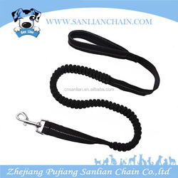Hands free pet leash premium running nylon reflective retractable dog seat belt with foam padding handle
