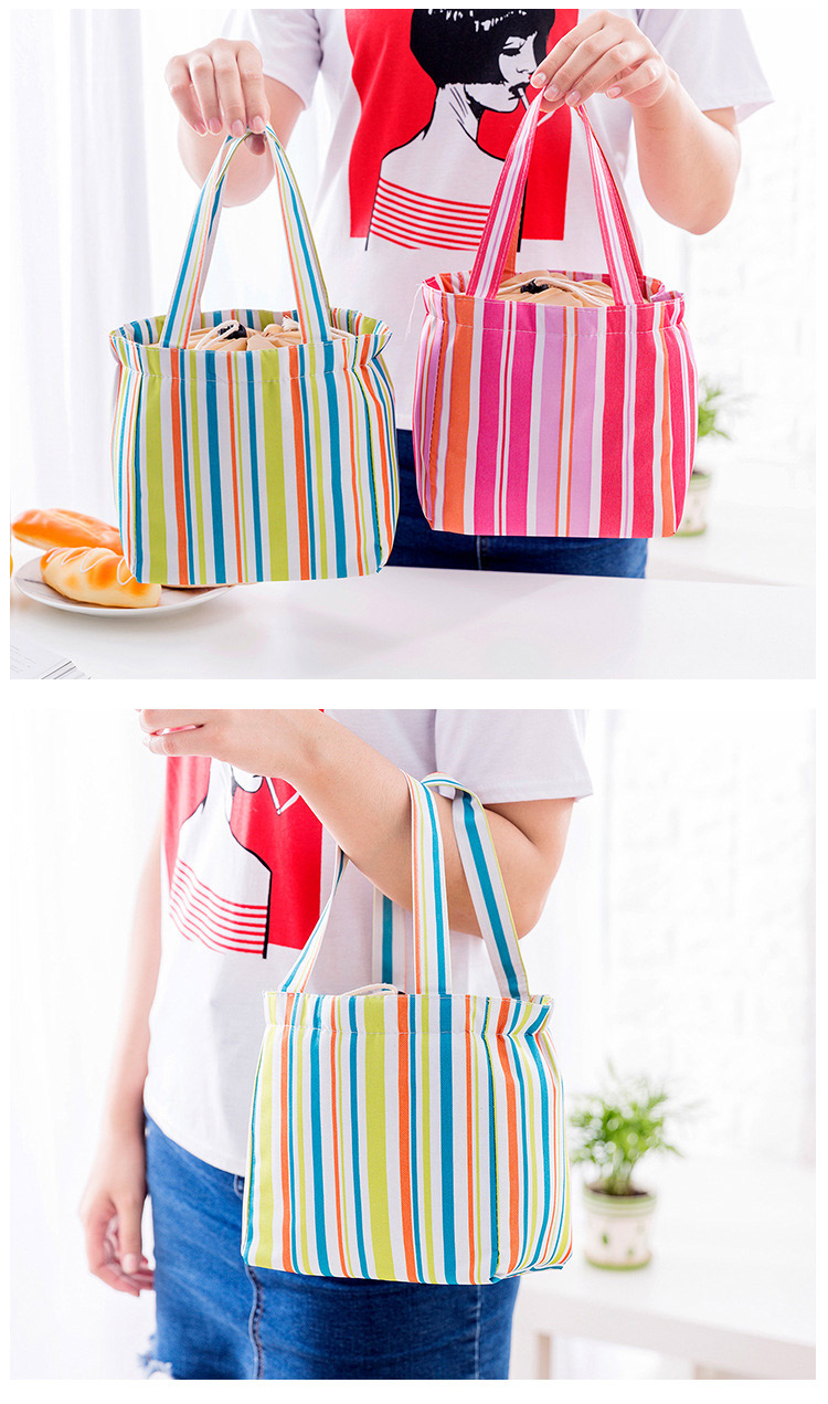 Korean New Canvas Outdoor Pant Fringes Heat Preservation Package Refrigerator Cooler Lunch Bag