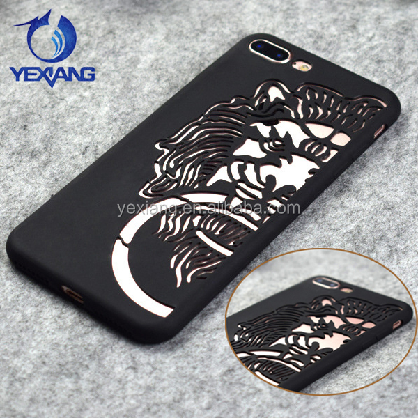 Frosted Hollowed Creative Custom Design TPU Back Cover Case For Huawei Y6 II