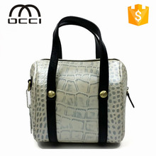 2015 modern design women crocodile texture genuine leather messenger bags QY1293