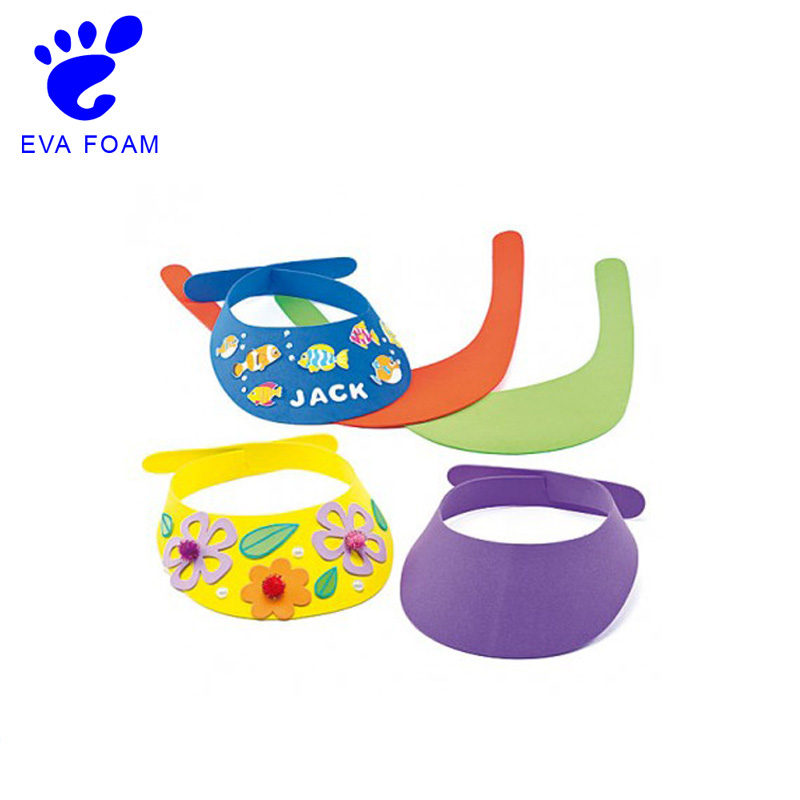 Factory supplier cute design eva foam animal sun visors hat