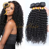 Hot 6A Brazilian Remy Hair Weave Brazilian Kinky Curly 4 Bundles Human Hair Extensions Afro Kinky Curly Hair Weft Natural Black