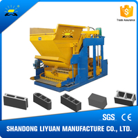 QMY10-15 mobile concrete block machine/egg laying block machine/hollow brick machine