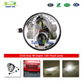 J210 7 Inch Round 80W Headlight Kit Hi/Low Beam DRL Projection Led Headlamp for J eep Wrangler Jk