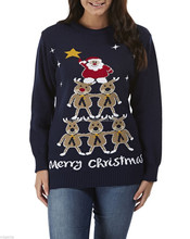 15CSU029 Ugly adult festive christmas jumper sweater