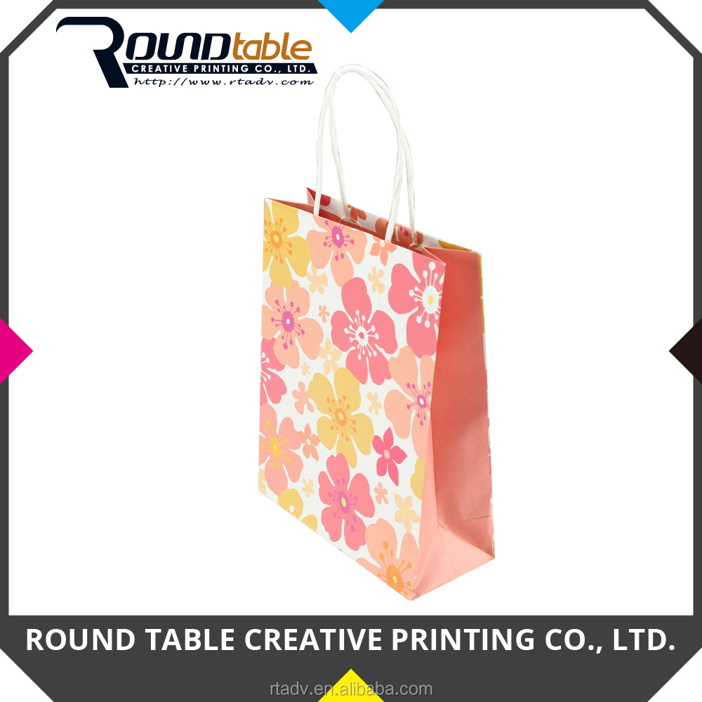 Customized Design Printed Colorful Shopping Paper Bag