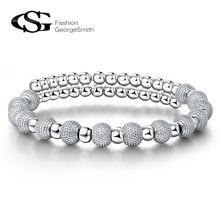 George Smith Fashion Elegant Sand Beads Women Bracelet Silver Plating Jewelry ally express wholesale bracelet