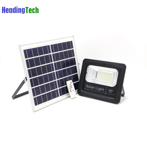 Solar panel 100w led solar flood light high bright outdoor lighting for activity