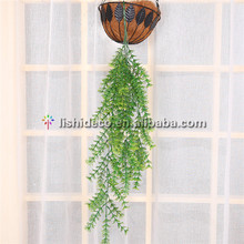 Home garden indoor decorative artificial plastic hanging tree leaf branches
