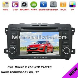 7 inch auto radio gps car dvd 2 dins for MAZDA-9 with wifi