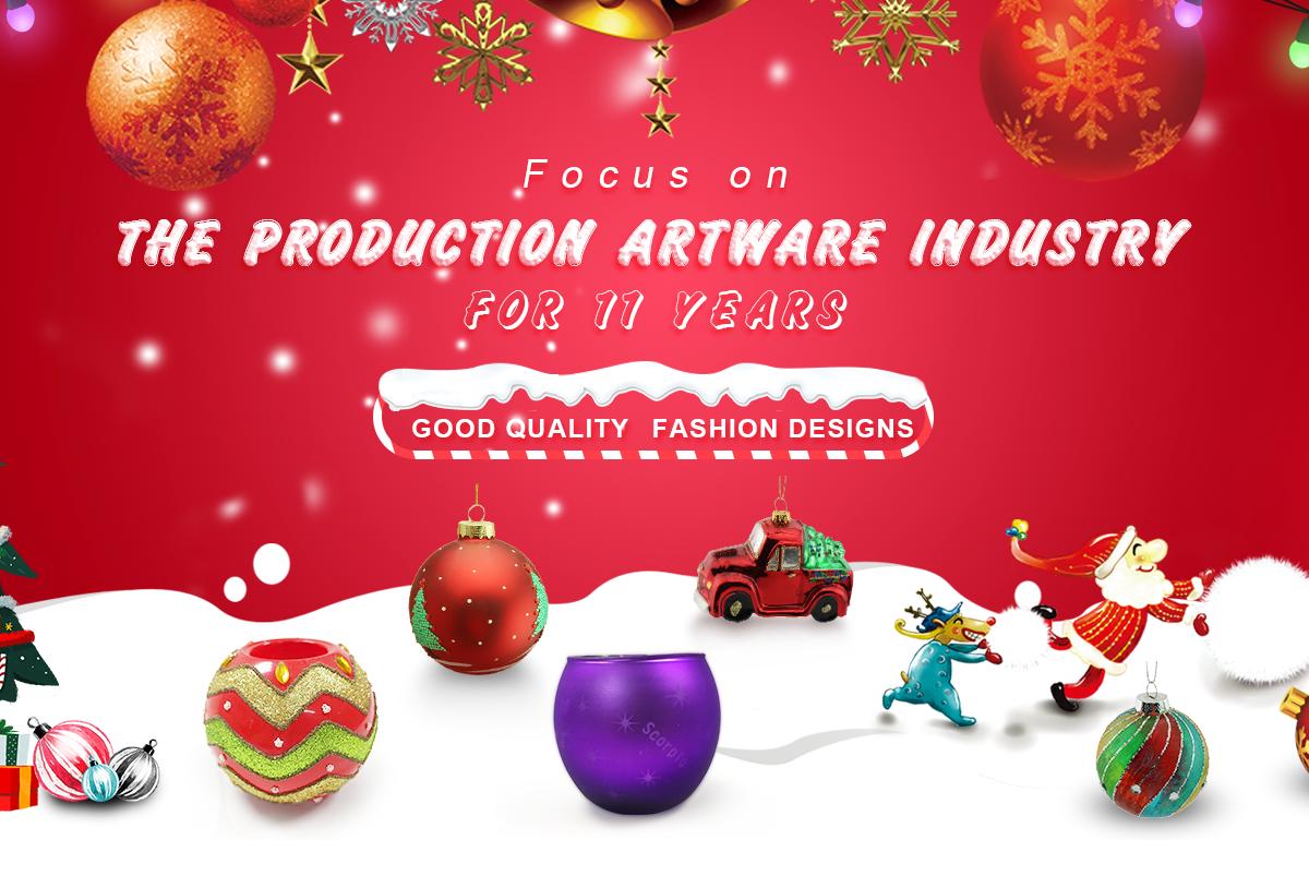 Dongguan Zhisheng Artware Factory Christmas Decoration Glass