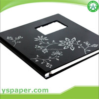 2016 guangzhou black paper for gift box /black textured paper